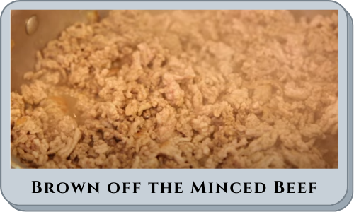 Brown off the Minced Beef