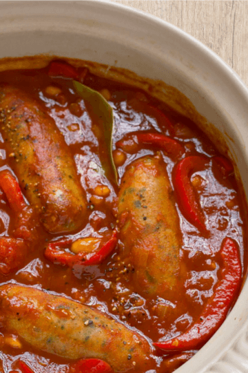 Sausage and Red Pepper Hotpot