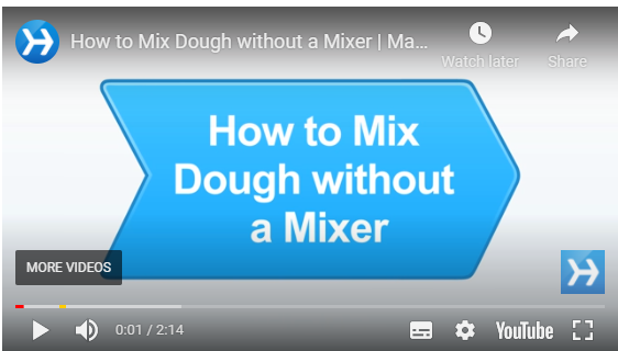 How to mix dough without a mixer video